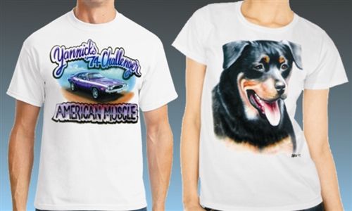 Custom airbrushed t shirts personalized per your request for Custom made airbrushed shirts
