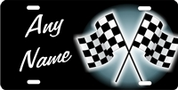 NASCAR racing checkered flags personalized novelty front license plate decorative vanity car tag