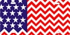 American flag Chevron Pattern design personalized novelty license plate