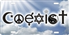 Coexist novelty front license plate decorative vanity car tag