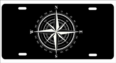 Compass novelty front license plate Decorative Vanity Car Tag