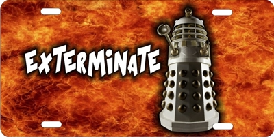 Dr Who Dalek EXTERMINATE custom car tag