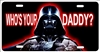 Darth Vader custom car tag who's your daddy
