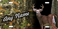 deer hunter camo background personalized novelty license plate