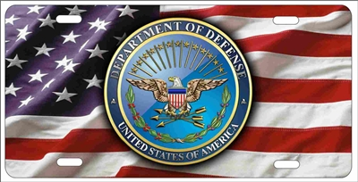US Department of Defense personalized novelty front license plate decorative aluminum car tag