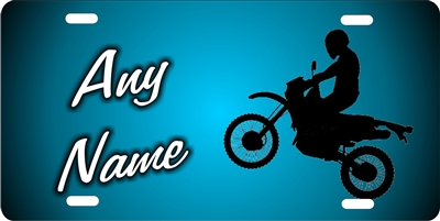 dirt bike blue background personalized novelty front license plate Decorative Vanity Car tag