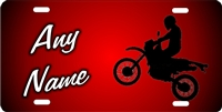 dirt bike red background personalized novelty front license plate Decorative Vanity Car tag