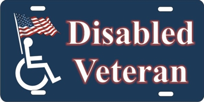 personalized novelty license plate Disabled Veteran