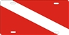 diver down flag personalized novelty front license plate decorative vanity aluminum car tag