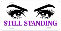 Still Standing Domestic Abuse Awareness personalized license plate custom car tag