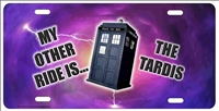 Dr Who My Other Ride Is The Tardis personalized customized novelty front license plate Decorative Vanity car tag