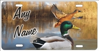 Duck Hunting Mallard personalized novelty front license plate decorative vanity car tag