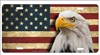 Bold head eagle on American flag personalized novelty license plate