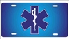 personalized novelty license plate EMS EMT star of life