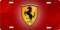 ferrari Custom License Plates, Personalized License Plates, Decorative License Plates, Front License Plates, Car Tags, airbrush