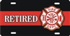 Fire Dept Maltese cross Retired Firefighter personalized novelty license plate (NOT 3D)