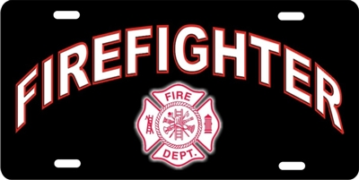 Maltese cross Firefighter car tag personalized novelty front license plate Decorative Vanity car tag