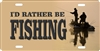 I'd rather be fishing personalized novelty front license plate Decorative Vanity car tag