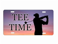 tee time golfer personalized novelty front license plate decorative vanity car tag