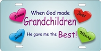 When God Made Grandchildren He Gave Me THE BEST custom car tag