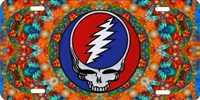 Grateful Dead steal your face custom car tag