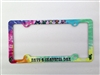 Have a Grateful Day License Plate Frame Dancing Terrapin Turtles Iko Dancing Bears on a tie dye background Decorative License Plate Holder