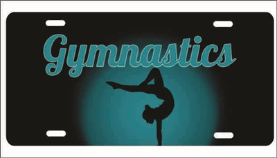 Gymnastics personalized novelty front license plate decorative vanity car tag