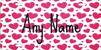 hearts Pattern design personalized novelty front license plate decorative vanity car tag