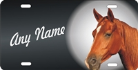 horse head personalized novelty front license plate decorative vanity car tag