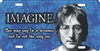 John Lennon Imagine personalized novelty front license plate decorative vanity car tag