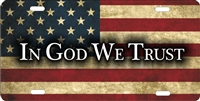 In God We Trust personalized novelty front license plate Decorative Vanity car tag