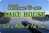Lake House personalized aluminum sign Novelty Custom signs, personalized signs, Decorative signs, Aluminum signs, airbrush