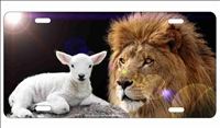 Lion and The Lamb personalized novelty front license plate Decorative Car Tag