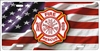 Fire Rescue Maltese cross on American flag fire dept personalized novelty front license plate decorative vanity car tag