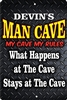 Man cave personalized aluminum sign