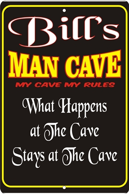 man cave personalized aluminum sign Custom signs, personalized signs, Decorative signs, Aluminum signs, airbrush