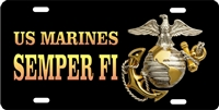 US marines SEMPER FI custom car tag Custom License Plates, Personalized License Plates, Decorative License Plates, Front License Plates, Car Tags, airbrush
