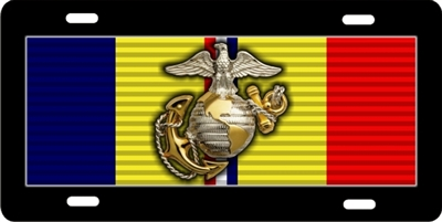 marines combat ribbon custom car tag Custom License Plates, Personalized License Plates, Decorative License Plates, Front License Plates, Car Tags, airbrush