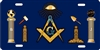 masonic Freemason tools Custom License Plates, Personalized License Plates, Decorative License Plates, Front License Plates, Car Tags, airbrush