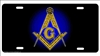 masonic Freemason Custom License Plates, Personalized License Plates, Decorative License Plates, Front License Plates, Car Tags, airbrush