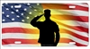 military salute personalized novelty front license plate Decorative vanity car tag