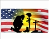 solider kneeling military salute personalized novelty front license plate Decorative vanity car tag