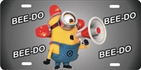 minion BEE DO custom car tag Custom License Plates, Personalized License Plates, Decorative License Plates, Front License Plates, Car Tags, airbrush