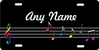 music notes custom car tag Custom License Plates, Personalized License Plates, Decorative License Plates, Front License Plates, Car Tags, airbrush