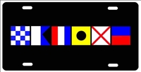 Nautical Flag Signs native novelty front license plate Decorative Car Tag