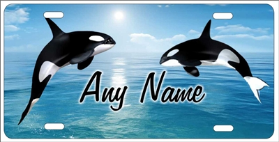 Orca killer whale Personalized Novelty Front License Plate Decorative Aluminum Sign. Custom License Plates, Personalized License Plates, Decorative License Plates, Front License Plates, Car Tags, airbrush