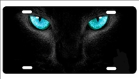 cats eyes custom license plate
