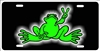 Green Peace Frog custom car tag Custom License Plates, Personalized License Plates, Decorative License Plates, Front License Plates, Car Tags, airbrush