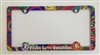Peace, Love and Sunshine License Plate Frame Decorative License Plate Holder