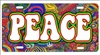 Peace sign Hippie art novelty license plate decorative vanity aluminum sign